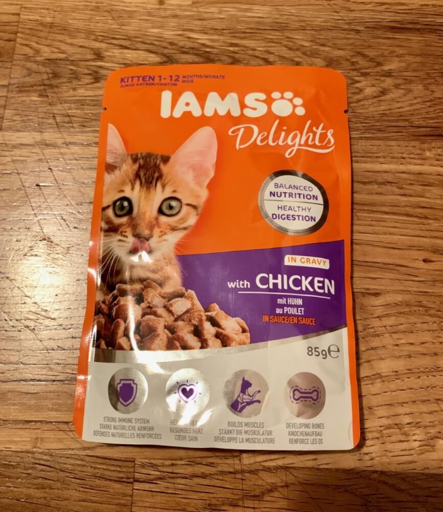 IAMS Delights mit Huhn in Sauce für Kätzchen