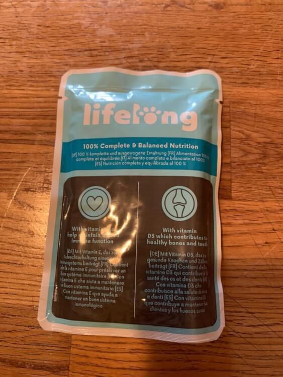 Amazon lifelong Nassfutter Stücke mit Kabeljau in Sauce
