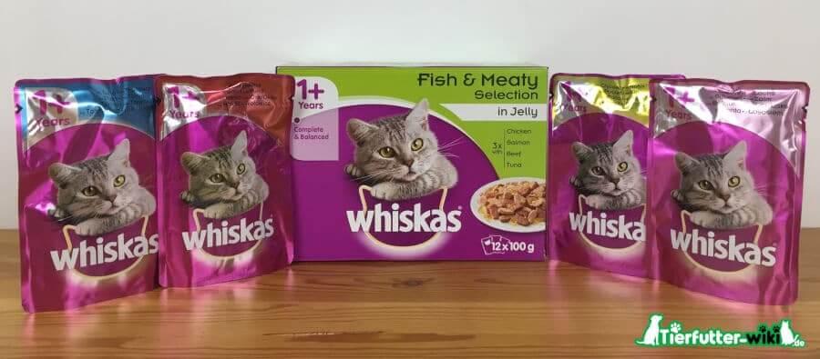 Whiskas Katzen Nassfutter in Jelly