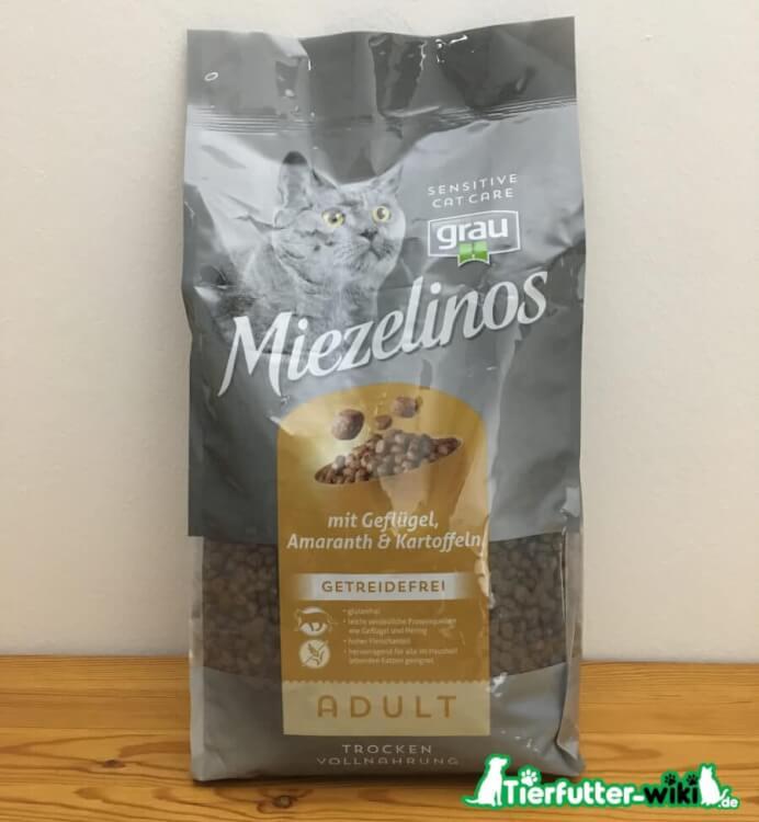 Grau Miezelinos Katzen Trockenfutter