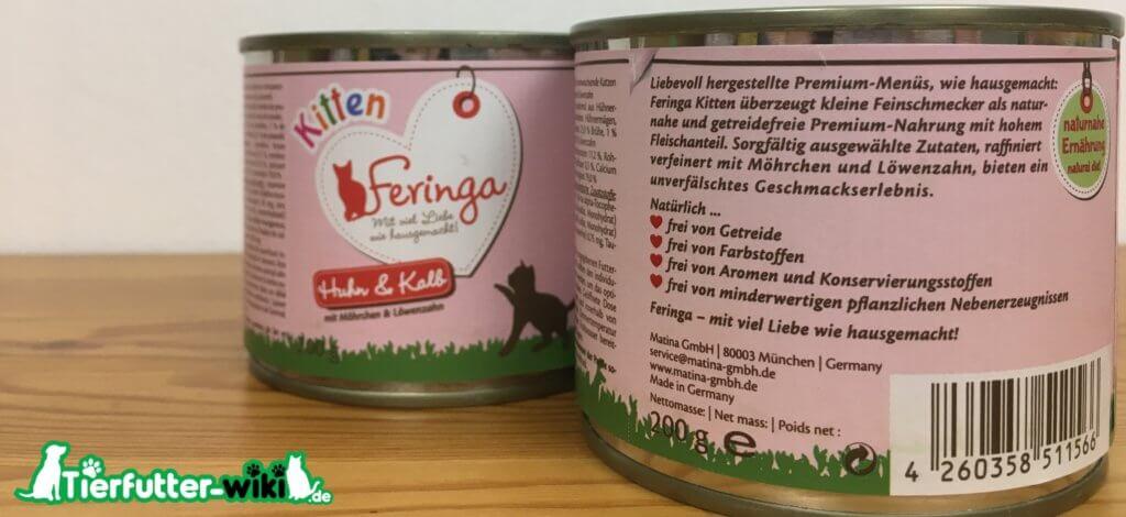 Feringa Kitten Nassfutter Huhn und Kalb