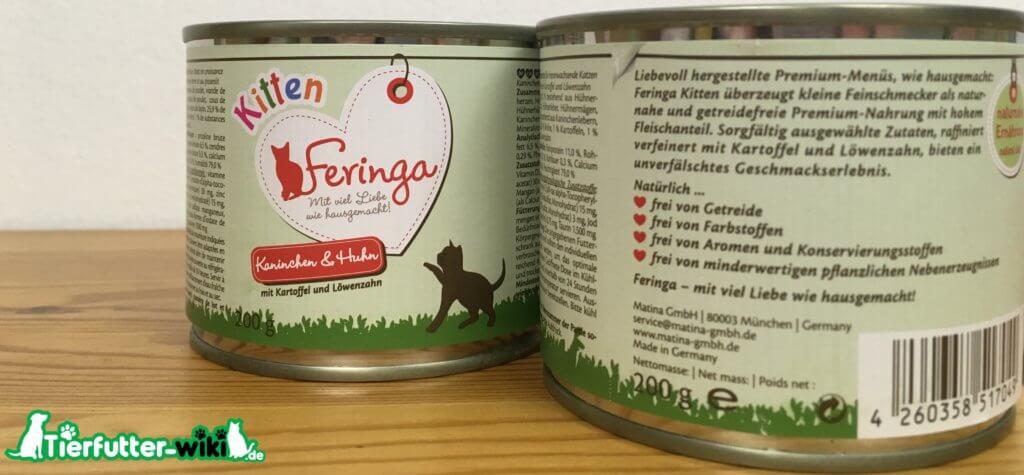 Feringa Kitten Nassfutter mit Kaninchen und Huhn