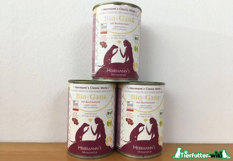 Herrmann's Bio-Gans Nassfutter für Hunde