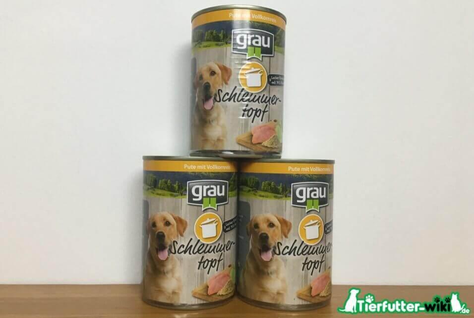 grau Schlemmertopf Hundefutter