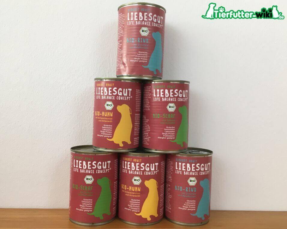 Liebesgut Bio Nassfutter für Hunde