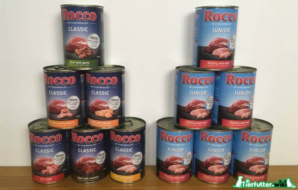 Rocco Classic und Junior Nassfutter