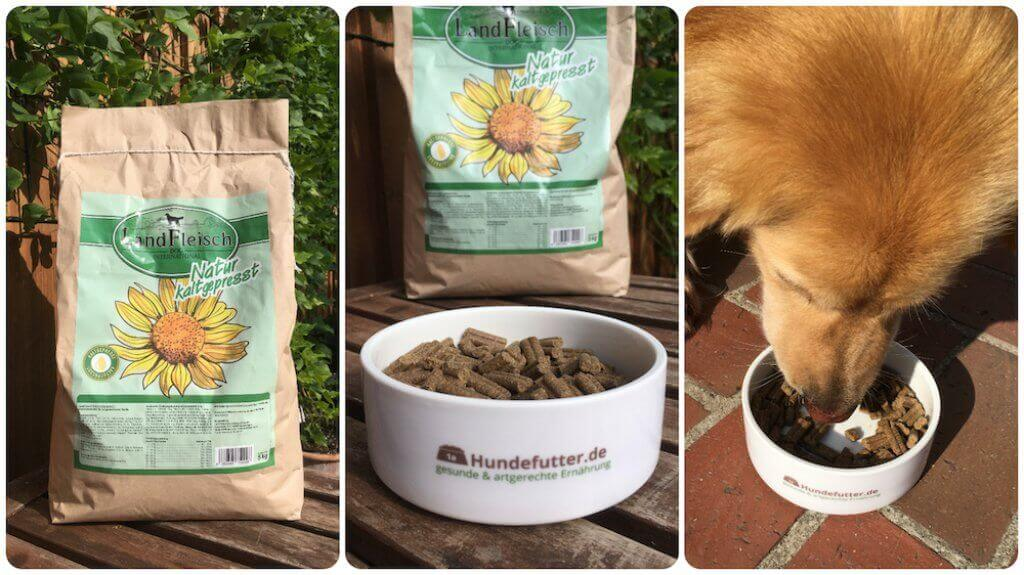 Landfleisch Hunde Trockenfutter Test